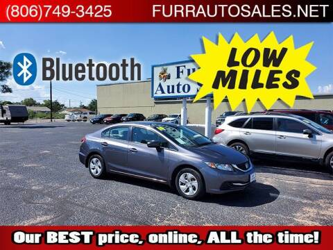 2014 Honda Civic for sale at FURR AUTO SALES in Lubbock TX