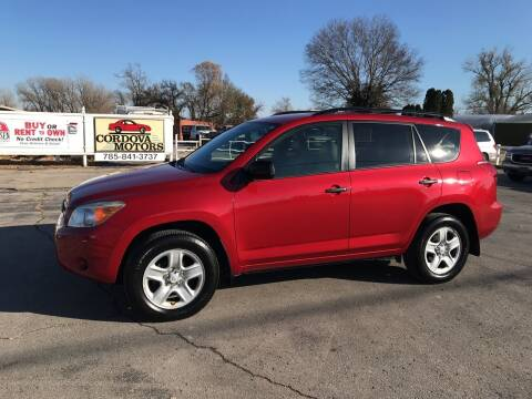2007 Toyota RAV4 for sale at Cordova Motors in Lawrence KS