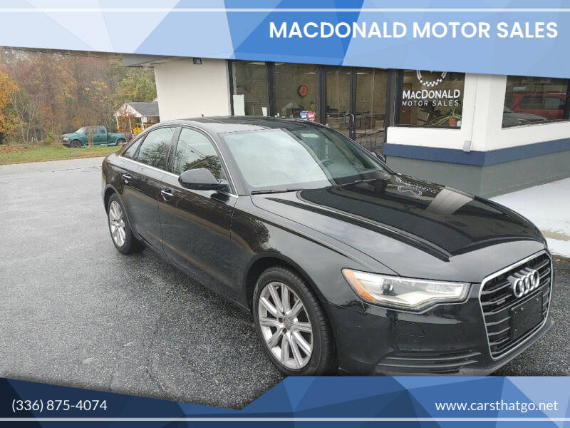 2013 Audi A6 for sale at MacDonald Motor Sales in High Point NC