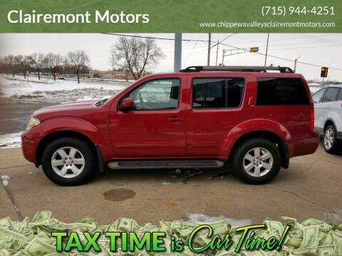 2012 Nissan Pathfinder for sale at Clairemont Motors in Eau Claire WI