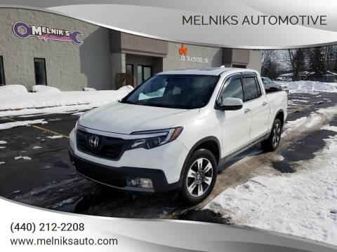 2017 Honda Ridgeline for sale at Melniks Automotive in Berea OH