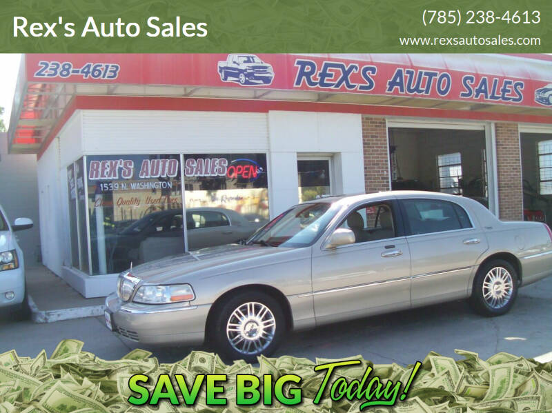2006 Lincoln Town Car for sale at Rex's Auto Sales in Junction City KS
