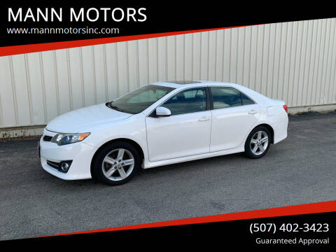2012 Toyota Camry for sale at MANN MOTORS in Albert Lea MN