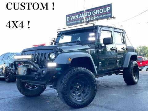 2011 Jeep Wrangler Unlimited for sale at Divan Auto Group in Feasterville Trevose PA