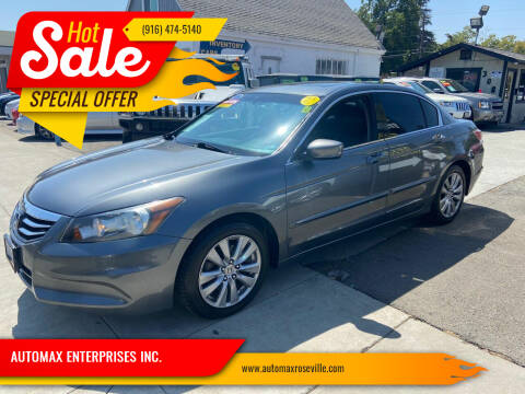 2011 Honda Accord for sale at AUTOMAX ENTERPRISES INC. in Roseville CA