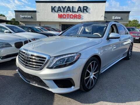 2017 Mercedes-Benz S-Class for sale at KAYALAR MOTORS in Houston TX