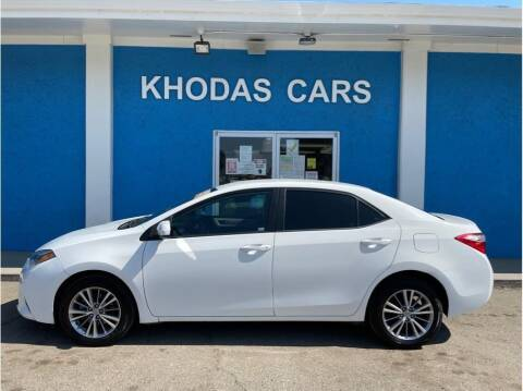 2015 Toyota Corolla for sale at Khodas Cars in Gilroy CA