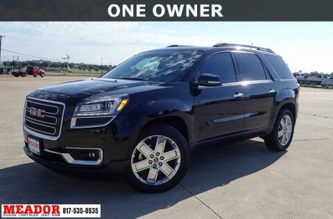 2017 GMC Acadia Limited for sale at Meador Dodge Chrysler Jeep RAM in Fort Worth TX