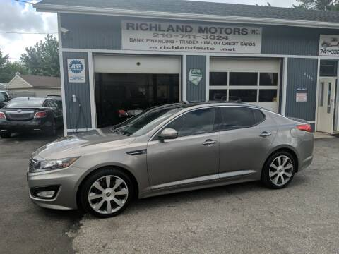 2012 Kia Optima for sale at Richland Motors in Cleveland OH