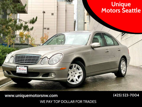 2004 Mercedes-Benz E-Class for sale at Unique Motors Seattle in Bellevue WA