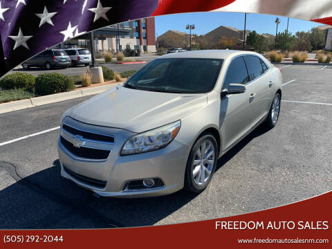 2013 Chevrolet Malibu for sale at Freedom Auto Sales in Albuquerque NM