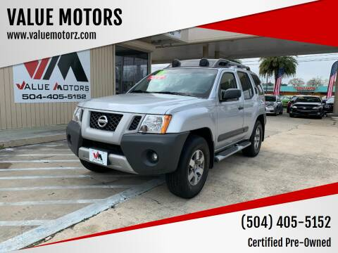 2013 Nissan Xterra for sale at VALUE MOTORS in Kenner LA