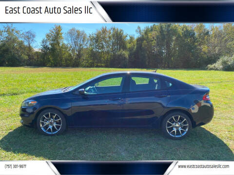 2015 Dodge Dart for sale at East Coast Auto Sales llc in Virginia Beach VA