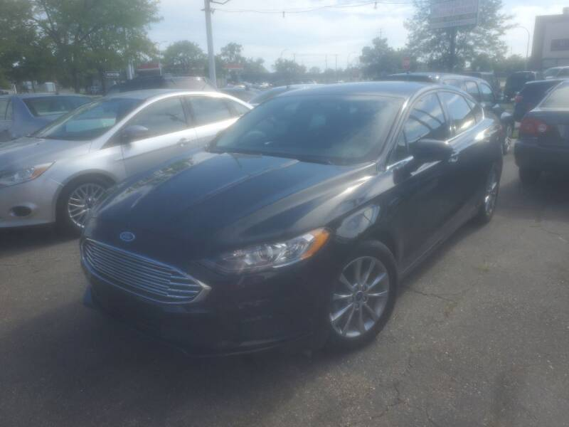 2017 Ford Fusion for sale at J & J Used Cars inc in Wayne MI