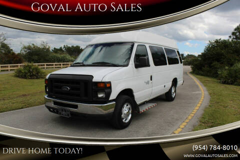 2013 Ford E-Series Cargo for sale at Goval Auto Sales in Pompano Beach FL