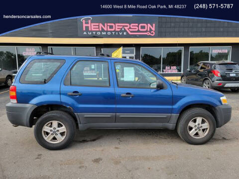 2007 Ford Escape for sale at Henderson Automotive, LLC in Oak Park MI