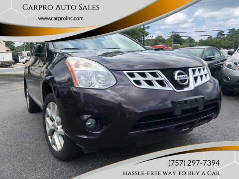 2012 Nissan Rogue for sale at Carpro Auto Sales in Chesapeake VA