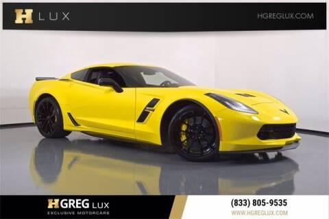 2019 Chevrolet Corvette for sale at HGREG LUX EXCLUSIVE MOTORCARS in Pompano Beach FL