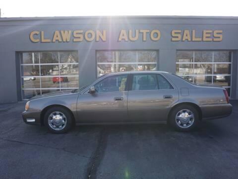 2002 Cadillac DeVille for sale at Clawson Auto Sales in Clawson MI