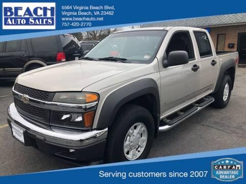 2006 Chevrolet Colorado for sale at Beach Auto Sales in Virginia Beach VA
