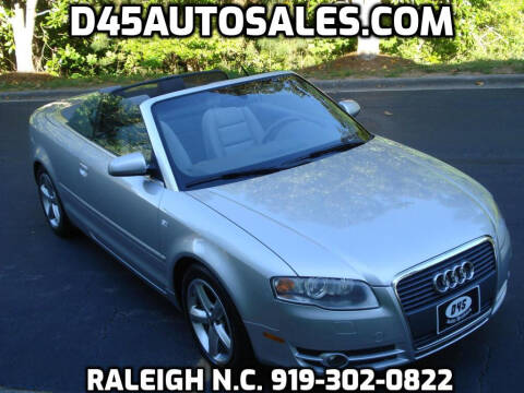 2008 Audi A4 for sale at D45 Auto Brokers in Raleigh NC