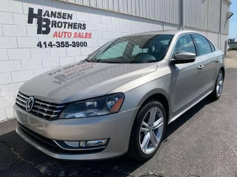 2014 Volkswagen Passat for sale at HANSEN BROTHERS AUTO SALES in Milwaukee WI