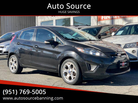2012 Ford Fiesta for sale at Auto Source in Banning CA