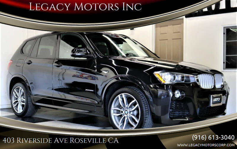 2016 BMW X3 for sale at Legacy Motors Inc in Roseville CA