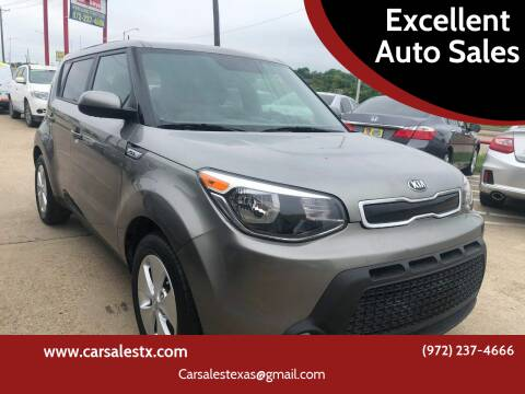 2015 Kia Soul for sale at Excellent Auto Sales in Grand Prairie TX