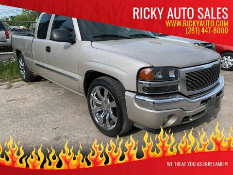 2006 GMC Sierra 1500 for sale at Ricky Auto Sales in Houston TX