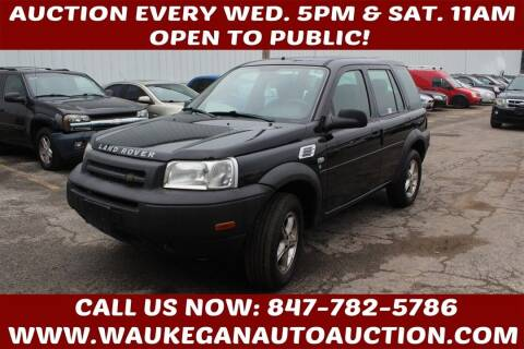 2002 Land Rover Freelander for sale at Waukegan Auto Auction in Waukegan IL