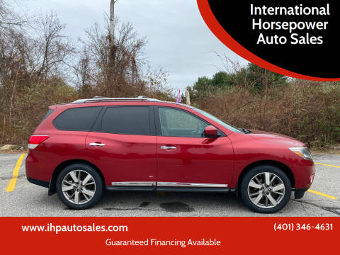 2013 Nissan Pathfinder for sale at International Horsepower Auto Sales in Warwick RI