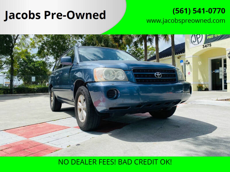 2003 Toyota Highlander for sale at Jacobs Pre-Owned in Lake Worth FL