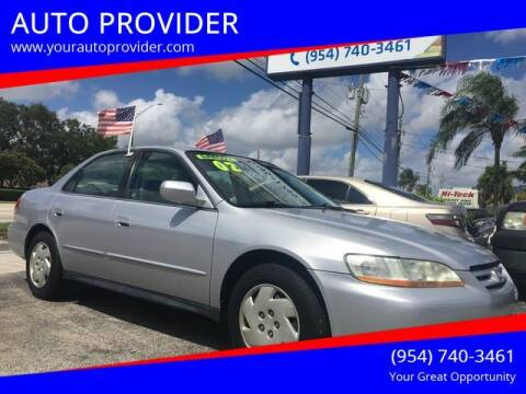 2002 Honda Accord for sale at AUTO PROVIDER in Fort Lauderdale FL