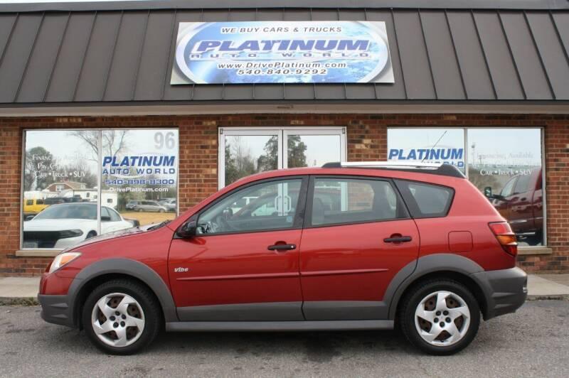 2007 Pontiac Vibe for sale at Platinum Auto World in Fredericksburg VA