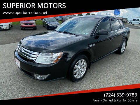 2009 Ford Taurus for sale at SUPERIOR MOTORS in Latrobe PA