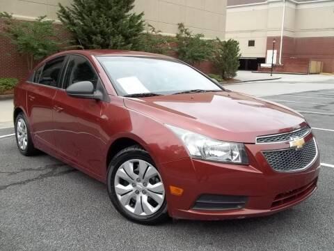 2012 Chevrolet Cruze for sale at CORTEZ AUTO SALES INC in Marietta GA