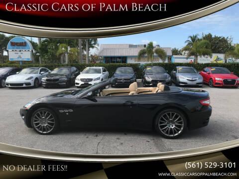 2012 Maserati GranTurismo for sale at Classic Cars of Palm Beach in Jupiter FL
