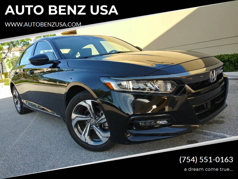 2019 Honda Accord for sale at AUTO BENZ USA in Fort Lauderdale FL