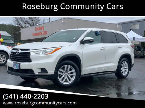 2014 Toyota Highlander for sale at Roseburg Community Cars in Roseburg OR