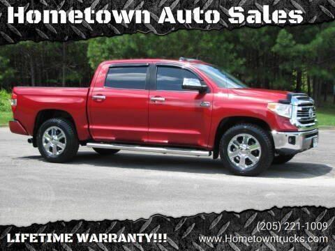 2017 Toyota Tundra for sale at Hometown Auto Sales - Trucks in Jasper AL
