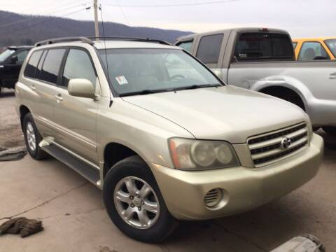 2002 Toyota Highlander for sale at Troys Auto Sales in Dornsife PA