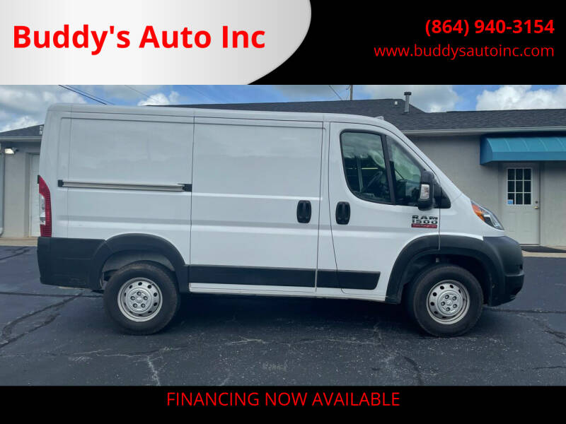 2019 RAM ProMaster Cargo for sale at Buddy's Auto Inc in Pendleton SC