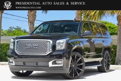 2016 GMC Yukon for sale at Presidential Auto  Sales & Service in Delray Beach FL