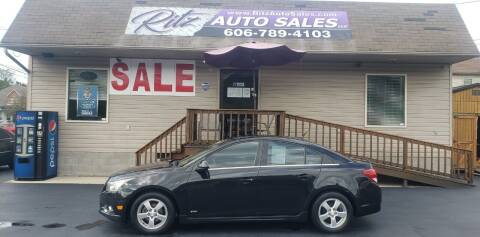 2012 Chevrolet Cruze for sale at Ritz Auto Sales, LLC in Paintsville KY