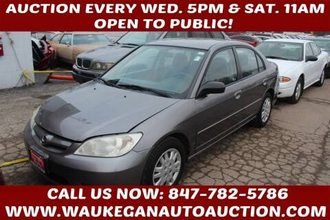 2005 Honda Civic for sale at Waukegan Auto Auction in Waukegan IL