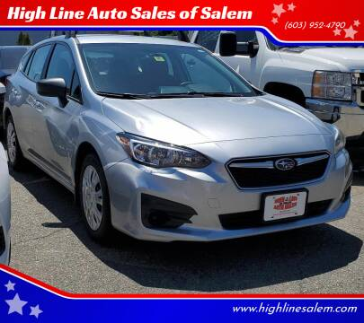2018 Subaru Impreza for sale at High Line Auto Sales of Salem in Salem NH