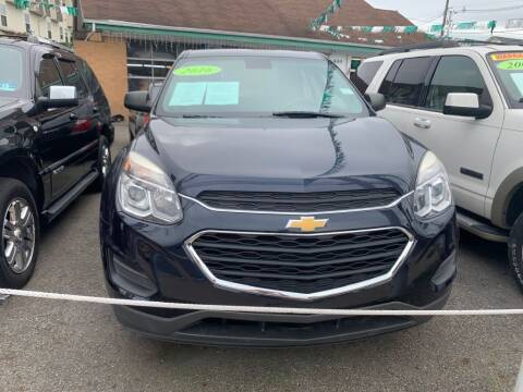 2016 Chevrolet Equinox for sale at Park Avenue Auto Lot Inc in Linden NJ