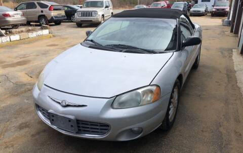 2002 Chrysler Sebring for sale at Classic Heaven Used Cars & Service in Brimfield MA