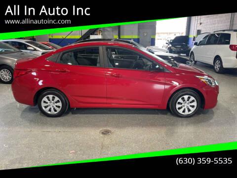 2016 Hyundai Accent for sale at All In Auto Inc in Addison IL